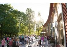 Sommarkväll utanför Värmlands Museum, Sandgrundsudden i Karlstad.