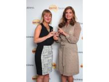 Nectar Business Start-up of the Year 2013 winner, Amy Cunningham, with Nectar Business Small Business Awards judge, Karren Brady