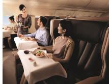 Fine-dining i skyene med Singapore Airlines