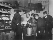 Blystöpning på nyårsafton 1909