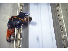 Kvalitetskontroll vid tillverkning av Glasroc H Ocean våtrumsskiva