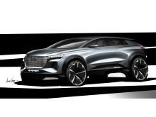 Audi Q4 e-tron concept (skitse fra siden)