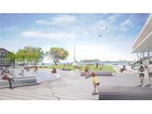 En ny park planeras vid den nya kongress- och hotellanläggningen i Helsingborg city