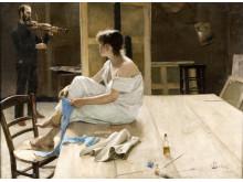 Richard Bergh, Efter slutad seans, 1884.