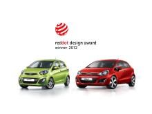 'red dot'-vinnare Kia Picanto och Kia Rio