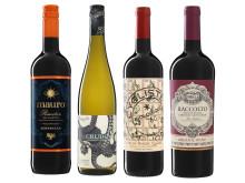Populära favoriter och spännande nyheter producerade på Nordic Sea Winery - flaskor