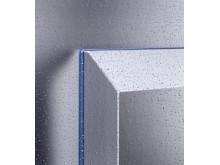 Den blå silikoneforpakning mellem luft/ vandvarmeveksleren og indkapslingen kan let udskiftes.