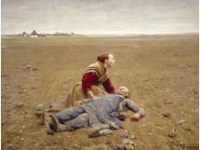 H.A. Brendekilde. Udslidt. 1889. Olie på lærred, 207 x 270 cm. Brandts – Museum for Kunst & Visuel Kultur