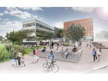 Visionsskiss Akademiplatsen, Campusplan Högskolan i Borås 2025