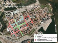 Nya och befintliga gångfartsområden Kvarnholmen