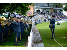 RAF College Band play at Worcestershire Cricket Club