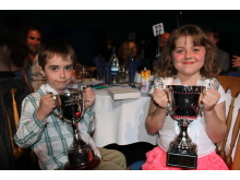 Luca Biagetti (Chester) and Maisie Danher (The Wirral) with their awards