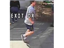 [CCTV still of jogger whom police wish to trace]