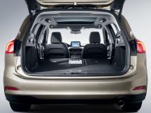 Nye Ford Focus med bagasjerom på hele 608 liter med alle seter i bruk.