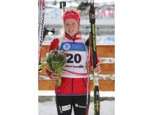 Karoline Erdal, blomsterseremoni, normalprogram ungdom kvinner, junior-VM 2016