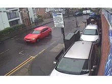 Red BMW 1-Series the suspect left the scene in