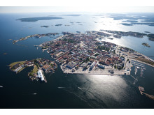 Flygbild över Karlskrona