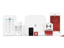 S6evo-alarmsystemet fra Sikkert Hjem er et next-generation system, som udsender beskeder via internet og mobilnetværk, når det udløses.