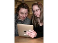 Lärarstudenter provar iPad