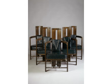 6 stolar av Eliel Saarinen, jugend,1907.