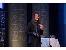 High res image - Kongsberg Digital - Hege Skryseth presenting