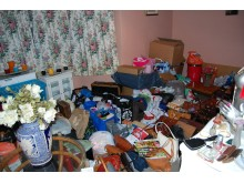 Items hoarded at the victim's house