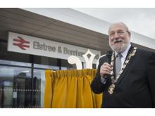 Mayor Cllr Plancey speaking