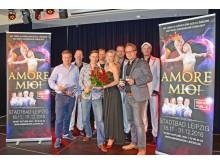 """Das Team der Dinnershow """"Amore Mio"""" freut sich auf die Premiere am 18. November 2016"""