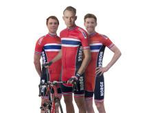 Edvald, Alexander og Lars Petter foran sesongen 2015.