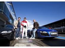 Alpina stjärnor testar Audi R8 på Nürburgring.