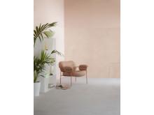 Halva väggen LADY Pure Color 2782 Deco Pink, halva väggen LADY Minerals 2782 Deco Pink