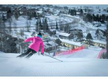 Skidåkning ända ner till byn och Hotell Funäsdalen
