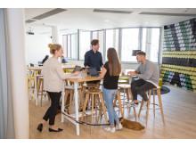 Kommunikationszonen ermöglichen spontane Meetings in kleiner Runde