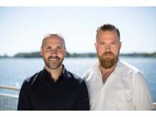 Fredrik Rosengren och Erik Matton - författarna bakom boken Beteendebaserad säkerhet