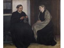 Ester Almqvist, Systrar, 1907, olja, Malmö Konstmuseum