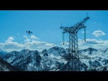 DJI M300 RTK inspecting power lines