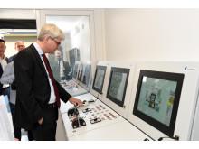 Søren Pind i simulatoren