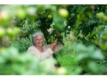 Maria Schierz im Morsumer Apfelgarten