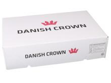Nyt låg i den tyndere bølgepaptype R-flute, som reducerer Danish Crowns CO2-udslip.
