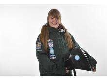 Speedskiåkaren Britta Backlund, Rättviks SLK.
