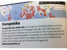 Europeiska.se är en av Sveriges 100 bästa sajter