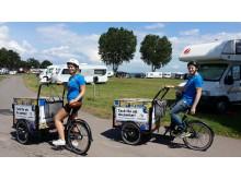 Cyklande pantamerabud på Vätternrundan
