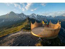 Männlichen Krone, -360-Grad-Plattform