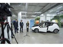 Konceptbilen Biofore visas upp på Högskolan i Borås