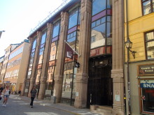 Entrén till Forum för levande historia, Gamla stan/Stockholm (Foto: Hanna Ljungman)