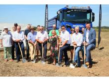 Spatenstich für neue Werkstatt Scania Mannheim Plankstadt