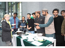 """Treffen mit Studierenden aus aller Welt bei traditionellen """"Internationalen Nachmittag"""" am 25. Oktober 2018"""