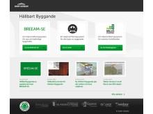 hållbartbyggande.se, Weber och Saint-Gobains nya webbplats