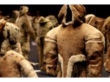 """Historiske pelsdragter i særudstillingen """"Pels - liv og død"""" på Nationalmuseet"""