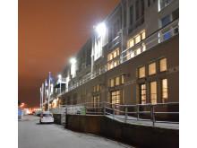 Amerikaskjulet får LED-bestyckad fasadbelysning
